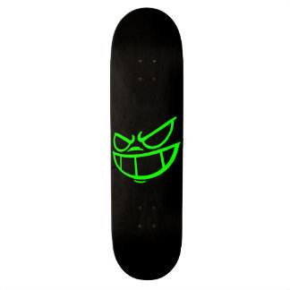 Phantom Smile™ Brand Black & Green Skateboard