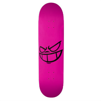 Phantom Smile™ Hot Pink & Black Skateboard Deck