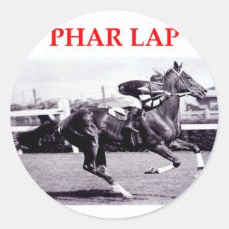 phar lap classic round sticker