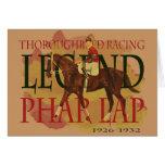 Phar Lap - Thoroughbred Horse Racing Legend Greeting Card