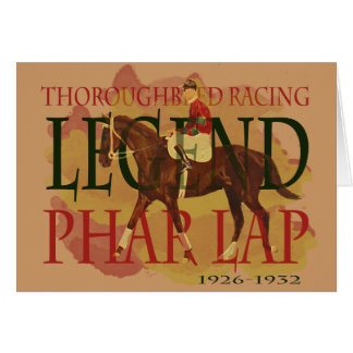 Phar Lap - Thoroughbred Horse Racing Legend Greeting Card