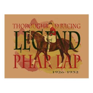 Phar Lap - Thoroughbred Horse Racing Legend Postcard