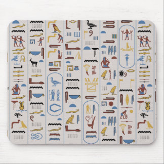 Pharaoh Ash Background Ancient Hieroglyphs Mouse Pad