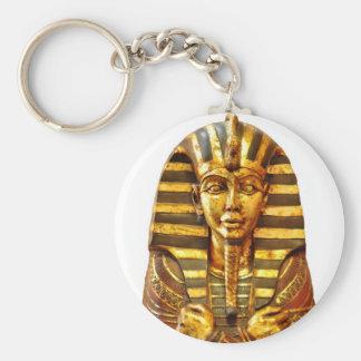 Pharaoh egipcio llavero redondo tipo pin