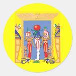 Pharaoh egipcio pegatina redonda
