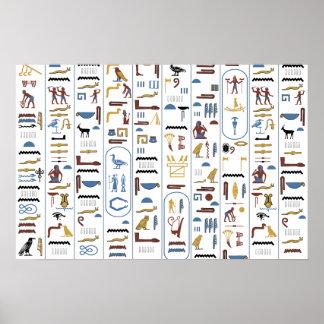 Pharaoh (fondo blanco) póster