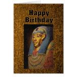 Pharaoh Happy Birthday Humor Greeting Card