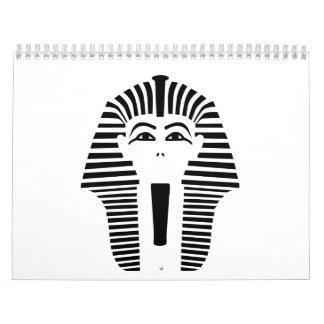 Pharaoh head face calendar