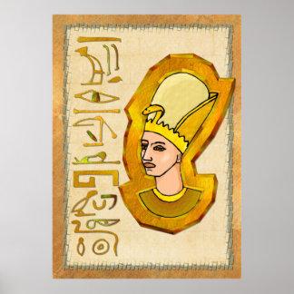 Pharaoh Hieroglyphics Folk Art Print
