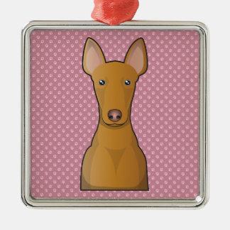 Pharaoh Hound Cartoon Metal Ornament