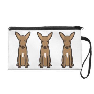 Pharaoh Hound Dog Cartoon Wristlet Purses