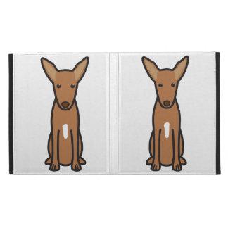 Pharaoh Hound Dog Cartoon iPad Folio Cases