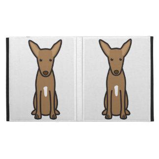 Pharaoh Hound Dog Cartoon iPad Folio Covers
