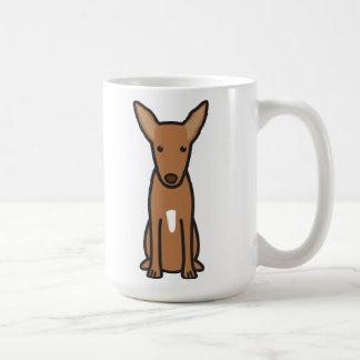 Pharaoh Hound Dog Cartoon Basic White Mug