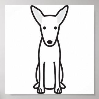 Pharaoh Hound Dog Cartoon Poster