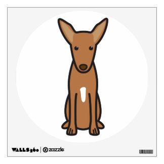 Pharaoh Hound Dog Cartoon Wall Sticker