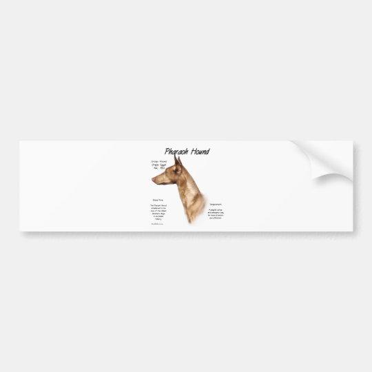 Pharaoh Hound History Design Bumper Sticker