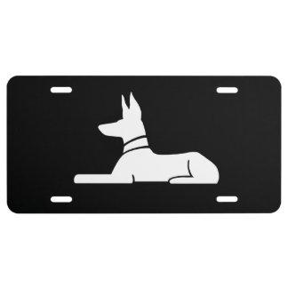 Pharaoh Hound License Plate