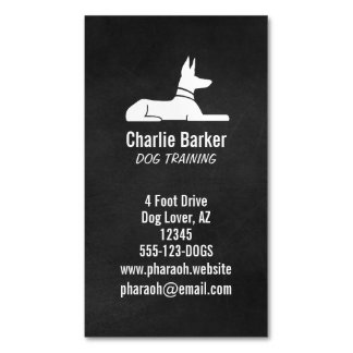 Pharaoh Hound Magnetic Business Card