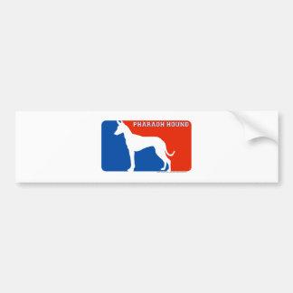 Pharaoh Hound Major League Dog Bumper Sticker Car Bumper Sticker