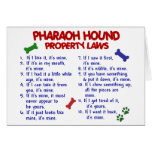 PHARAOH HOUND Property Laws 2 Greeting Card