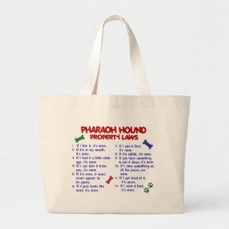 PHARAOH HOUND Property Laws 2 Large Tote Bag