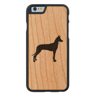 Pharaoh Hound Silhouette Carved Cherry iPhone 6 Slim Case