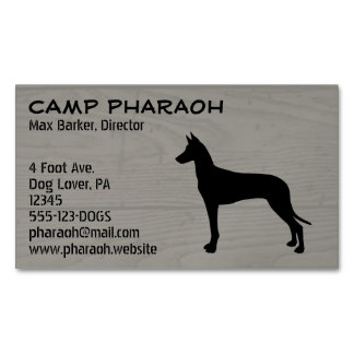 Pharaoh Hound Silhouette Magnetic Business Cards (Pack Of 25)