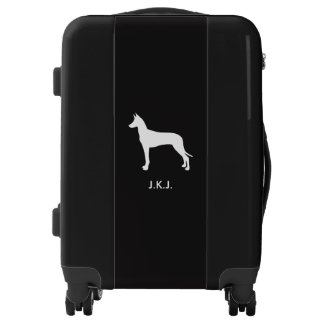 Pharaoh Hound Silhouette with Custom Text Luggage