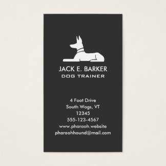 Pharaoh Hound Vertical Business Card