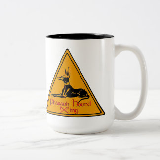 Pharaoh Hound X-ing Two-Tone Coffee Mug