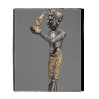 Pharaoh making an offering before the Goddess Maat iPad Case