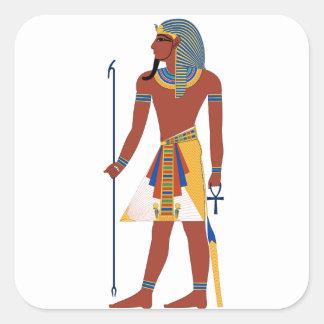 Pharaoh Pegatina Cuadrada