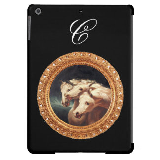 Pharaoh's Chariot Horses Monogram Cover For iPad Air