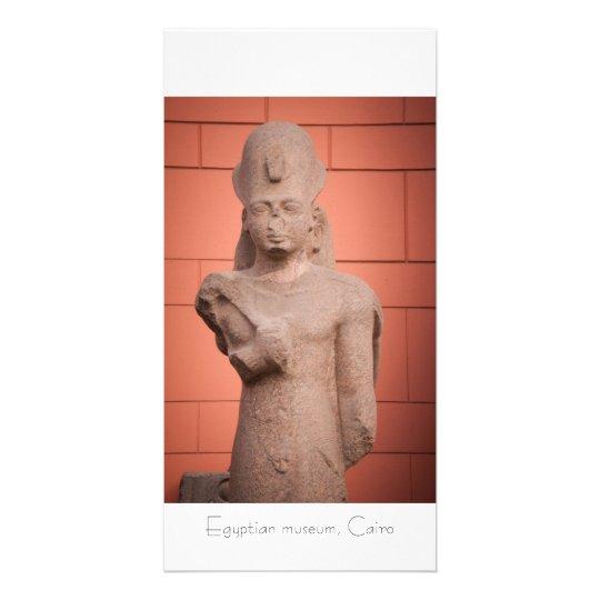 Pharaoh statue at Egyptian museum, Cairo, Egypt Card