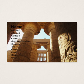 Pharaohnic Hieroglyphics, Karnak Temple picture Business Card