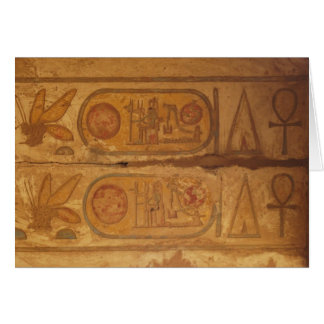 Pharaohnic Hieroglyphics, Karnak Temple picture Greeting Card