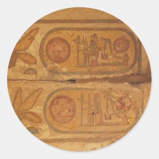 Pharaohnic Hieroglyphics, Karnak Temple picture Classic Round Sticker