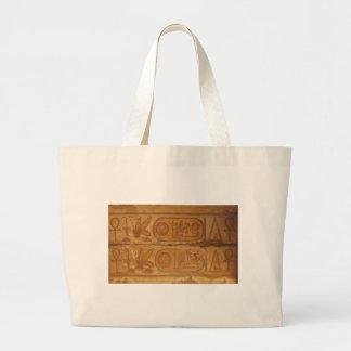 Pharaohnic Hieroglyphics, Karnak Temple picture Large Tote Bag