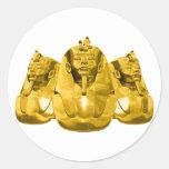 Pharaohs de oro pegatina redonda