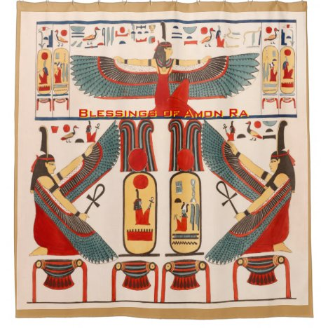 Pharaohs Hieroglyphics - Amon Ra Blessings Shower Curtain