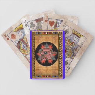 pharaoh's udjat bicycle playing cards