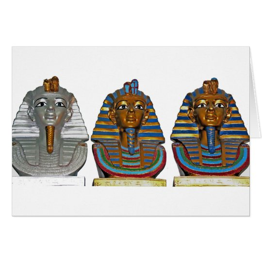 Pharaonic Masks In Alabaster Card
