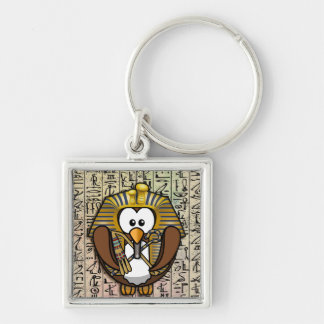 Pharaowl fashion accessories Silver-Colored square keychain