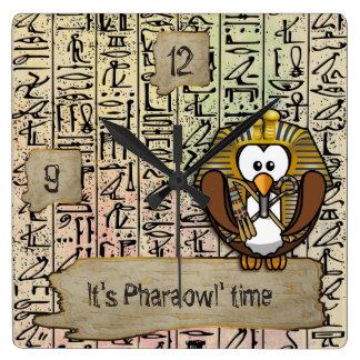 Pharaowl home decor square wall clock