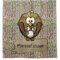 Pharaowl shower curtain