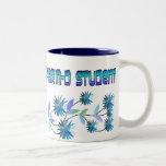 Pharm D Student Blue Flowers Design Coffee Mug