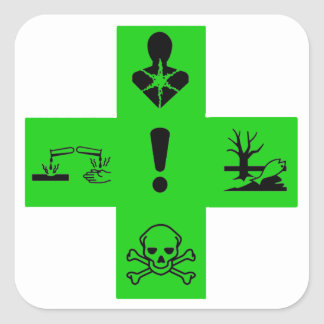 pharmaceutical dangers square sticker
