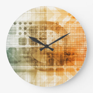 Pharmaceutical Industry with Science Research Large Clock
