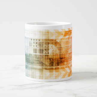 Pharmaceutical Industry with Science Research Large Coffee Mug